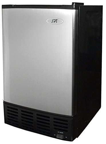 SPT IM-150USA Stainless Steel Undercounter Ice Maker with Freezer