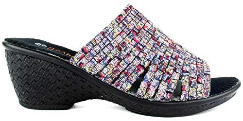 B M Bernie Mev New York Women's Kent Mid Heel Sandal - Una Sandalia, Abierto atras y Ligera, con Plantilla de Memory Foam pasear en Verano y otoño (Ice, Numeric_37)