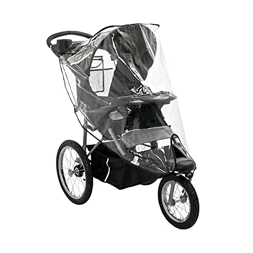 Nuby Jogging Stroller Weather Shield, Clear Stroller Cover with Storage Pocket