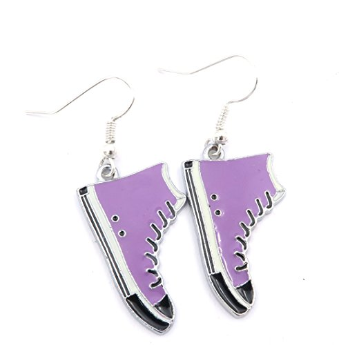 Sneaker orecchini alla moda a forma di scarpa viola