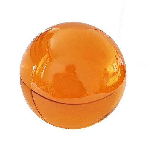 meixiang Farbige Kristall Glaskugel, Kronleuchter Spiegel Kugel Kristallkugel, Dekoration Globus 60MM / Orange