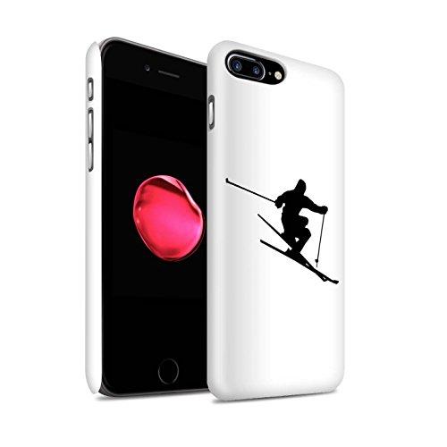 Stuff4 Matte Snap-On Hülle/Case für Apple iPhone 8 Plus/Extrem Sport Muster/Skifahren/Snowboard Kollektion