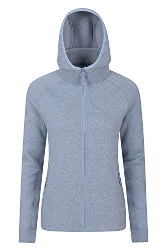 Mountain Warehouse Nevis Fleecejacke für Damen mit Reißverschluss – leichtes Sweatshirt für den Frühling, mit Taschen, atmungsaktiv – zum Spazierengehen, Reisen, Winter Hellblau 54