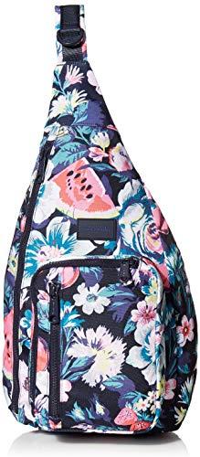 Vera Bradley Women's Recycled Lighten Up ReActive Sling Backpack, Garden Picnic, One Size