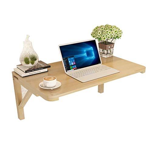Dongy Opvouwbare tafel voor laptop, voor op de muur, eettafel, massief hout 80x50CM