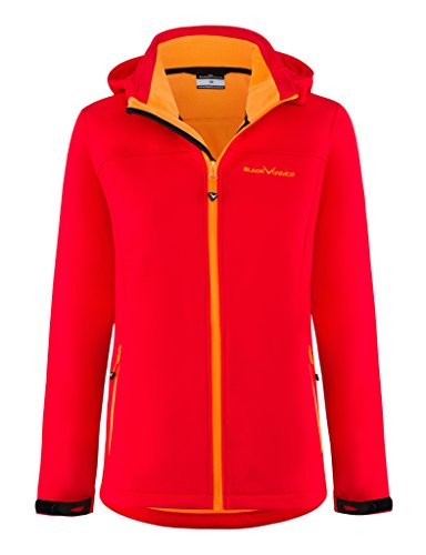 Black Crevice Damen Softshelljacke, rot/Orange, Gr. 44
