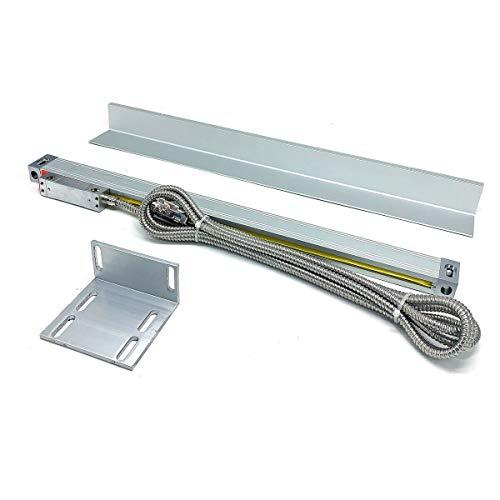 DOMINTY 350mm Linearmaßstäbe optischer Linear Encoder Hochauflösender Glasmaßstab Lineargeber inkl. Lesekopf und Abdeckleiste für digitale Positionsanzeige Digitalanzeige Drehbank Werkzeugmaschinen