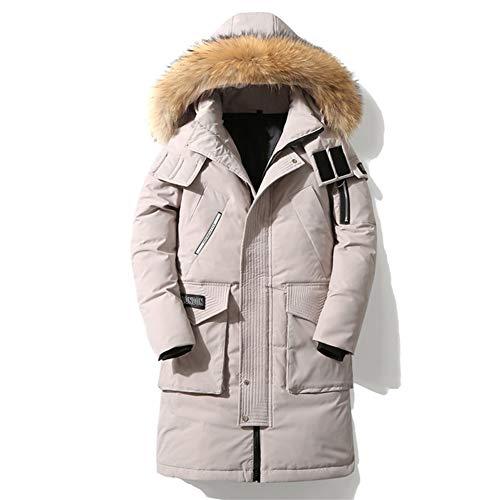 Heren Down Jack, Winter Warm Jas Luxe Afneembare Bontkraag Coltrui Winddicht Eenvoudige en Comfortabele Manchetten Retro XXX-Large Kleur