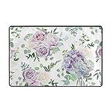 huagu Tappeto da Bagno,Lavanda,cremoso e Malva Rosa Antico Tappeto da Bagno 45 cm x 75 cm