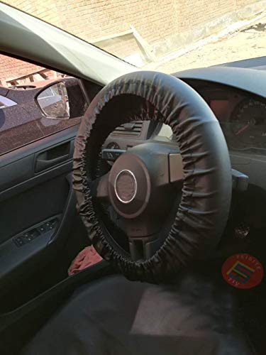 Istn Auto Lenkradbezug Schutz Geflecht Am Griff Plüsch Set Schwammschutz (schwarz)