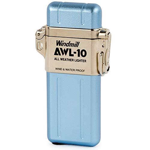 WINDMILL(ウインドミル) ライター AWL-10 ターボ 防水 耐風仕様 ブルー 307-1002 74 (h) x 39 x 13 mm