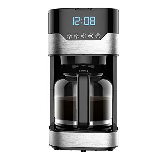 QUANOVO Espressomaschine Americano Kaffeemaschine Vollautomatische Touch Control 220V 800W Edelstahl 1.5L Kapazität LED-Anzeige für Haus und Büro