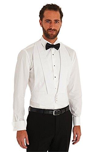 Weiße Pikee-Anzugsweste für den Abendanzug/Frack Gr. L 102 cm- 107 cm, weiß