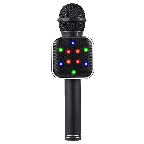 Bobin MicróFono de Mano InaláMbrico Altavoz MicróFonos LED Negros para Maestros en LíNea NiiOs NiiOs