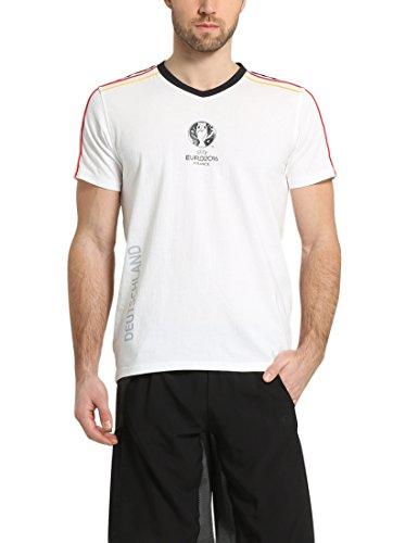 Summary Camiseta para Hombre, Campeonato de Europa UEFA de fútbol de 2016, algodón, Primavera/Verano, Unisex, Color Blanco, tamaño 2 XL