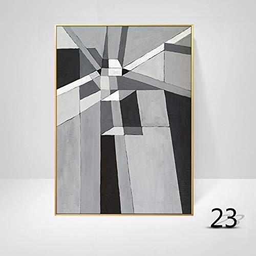 WSNDGWS Woonkamerdecoratie geometrische abstracte kleur kunst moderne minimalistische massieve muurschildering zonder fotolijst 40x60cm J2