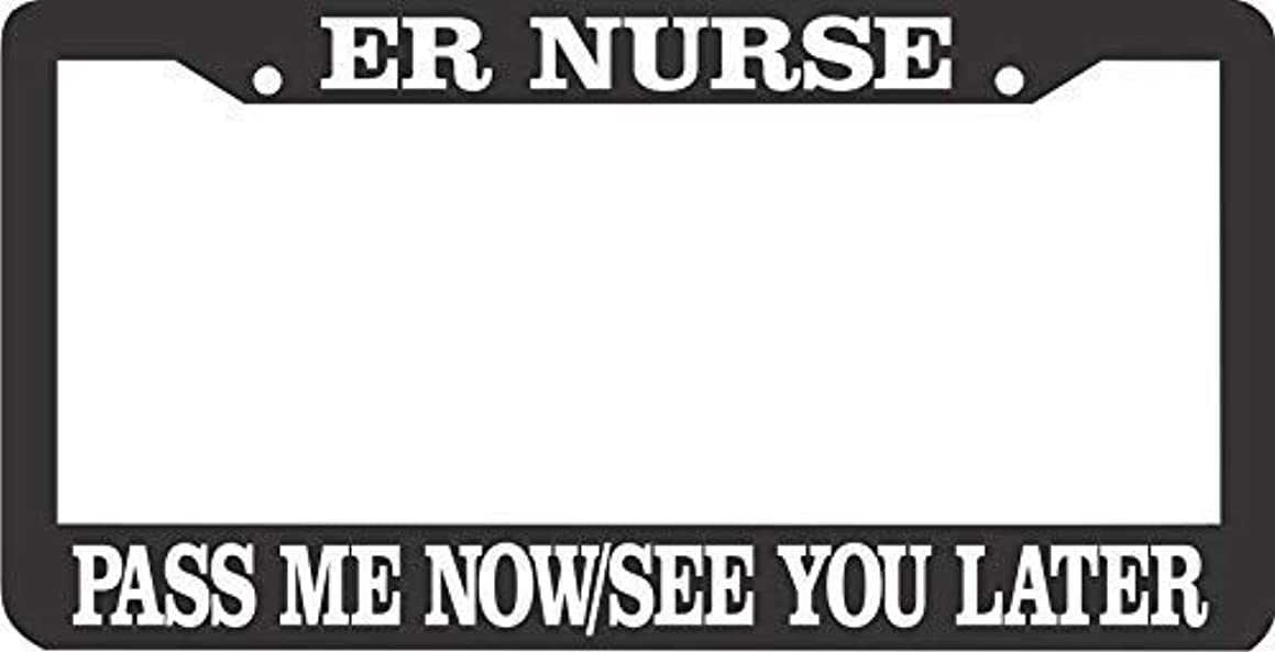 HarrodxBOX Er Nurse Pass Me Now See You Later Car License Cover Holder for Front Back Auto Tag