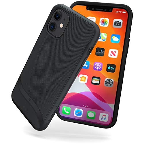 Snugg iPhone Pro 11 Max (2019) Case - Slim Cover Protective Pulse Series Silicone Shockproof - Blackest Black
