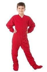 in budget affordable Big Feet Pjs Red Big Boys Fleece Onesie Footed Pajamas SleeperPlaysuit