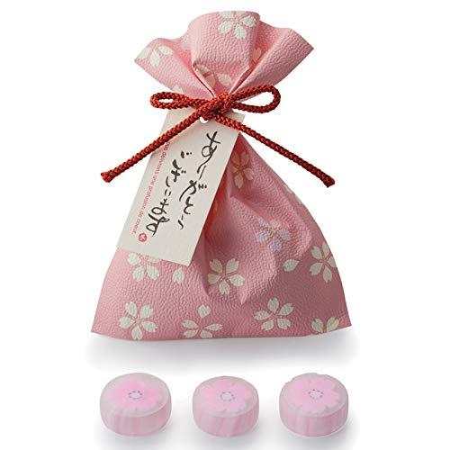 桜キャンディー3粒入りプチギフト(1袋)【和装の結婚式 さくら 春婚 ホワイトデー 飴】