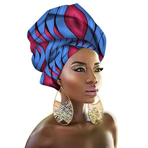 African Traditional Headwrap Scarf Tie, Multi-Color Urban Ladies Hair Accessory Headband Head Scarf (TTJ04)