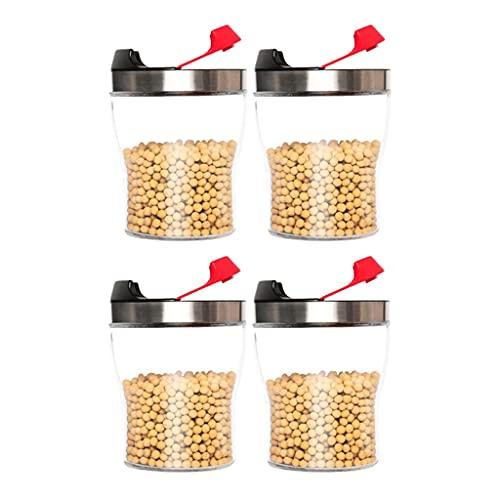 tarros Juego De Recipientes De Vidrio De 4 Piezas Contador De Cocina Contenedor De Almacenamiento De Alimentos Clear Espacio Ahorro Contenedor Alimentos
