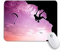 ECOMAOMI 可愛いマウスパッド エクストリームスポーツ 滑り止めゴムバッキングマウスパッドノートブックコンピュータマウスマット