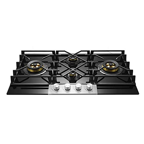 gas cooktop 34' Extra Large Tempered Glass Gas Stove; 5KW*2+1.6KW*2 With Four Burners, Fully...