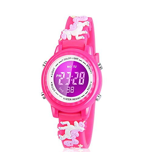Viposoon Gifts for 3 4 5 6 7 8 9 10 Year Old Kids, Girls Watches Ages 5-7 Birthday Presents for 3-12 Years Old Kids Popular Toys for 4-12 Years Old Kids