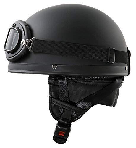 Motorcycle & Powersports Helmets Retro Half Shell Helmet Men and Women DOT/ECE Approved Baseball Cap Style Helmet Bike Cruiser Chopper Moped Scooter ATV Helmets (55-62cm)