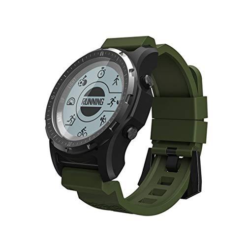 QTEC Smart Watch grüne GPS kompass tacho sportuhr Bluetooth pulsmesser smart Band Multi-Sport Fitness Tracker smart Watch