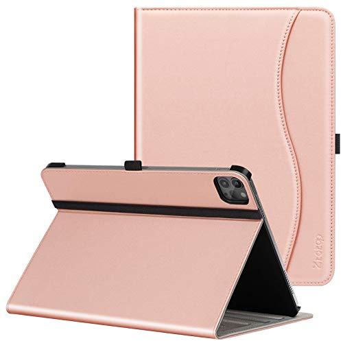 ZtotopCase Case for New iPad Pro 11 2020 Case, Premium Leather Folio Stand Case Smart Cover with Auto Sleep/Wake, Supports iPad Pencil Charging for 2020 iPad Pro 11 Inch 2nd Generation,Rose