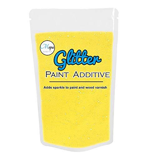 Glitzer für Emulsionsfarbe Additiv Fugenmasse 100g zitronengelb