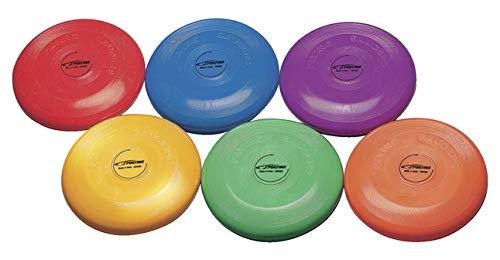 Sportime Heavy Duty Indoor / Outdoor Flying Discs - 9 inch - Set of 6 - Multiple Colors