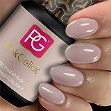 Pink Gellac Esmalte de uñas Shellac de 15 ml para lámpara UV LED   255 heladas nude beige brillante   esmalte de uñas de gel para lámpara UV   esmalte de uñas LED