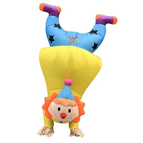 SimpleMfD Einzigartiges Stand Upside Down Clown Kostüm Lustige Karneval Party Aufblasbares Kostüm Halloween Kostüme Für Erwachsene Handstand Clown (fit für 150-190CM)