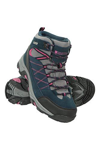 Mountain Warehouse Rapid Wasserfeste Stiefel für Damen - Wanderschuhe aus Wildleder und Netzstoff, Schuhe, Wanderstiefel mit Gummilaufsohle - Für Reisen, Camping Marineblau 38 EU