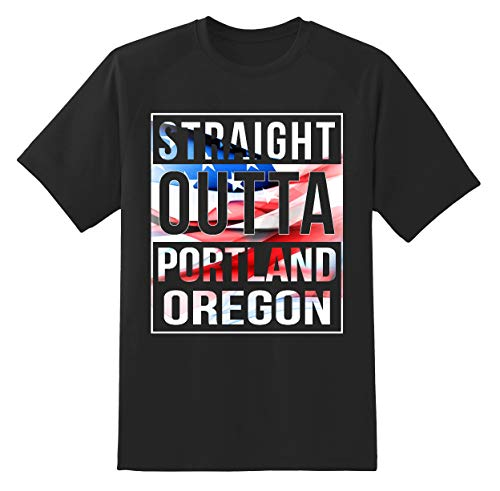 4th of July America Flag Idependence Day 2019 - City State Born in Pride Portland Oregon OR Unisex Shirt Black