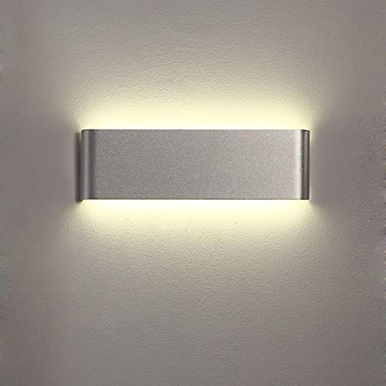 Moderne Wandleuchte, Led Rechteck Silber Wandleuchte Kreative Lange Wandleuchte Beleuchtung Eisen Lampe Wohnzimmer Lampe Schlafzimmer Flur Bar Kronleuchter