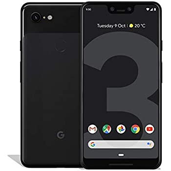 Google Pixel 3 XL 64GB Unlocked GSM & CDMA 4G LTE Android Phone w/ 12.2MP Rear & Dual 8MP Front Camera - Just Black (Renewed)
