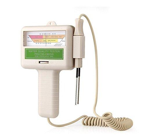 TC Piscine D'eau testeur de Chlore testeur Ph ; Test Rapide pour L'eau Ph et Les Niveaux de CL2 Pc101