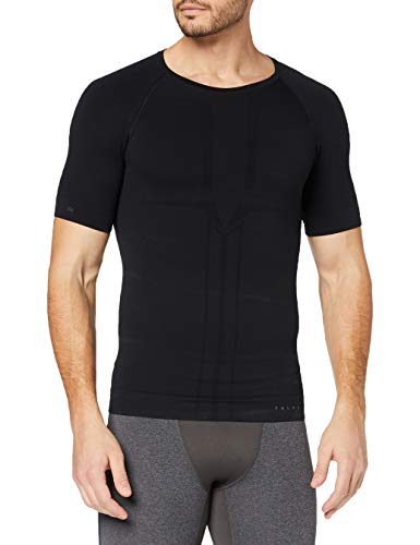 FALKE Herren Warm Impulse M S/S SH Baselayer-Shirt, Schwarz (Black 3000), L