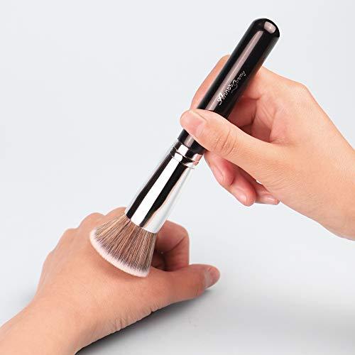 ANNE'S GIVERNY Duo Fibre Face Stippling Brush for Makeup Blending Foundation Primer Blush Concealer Bronzer
