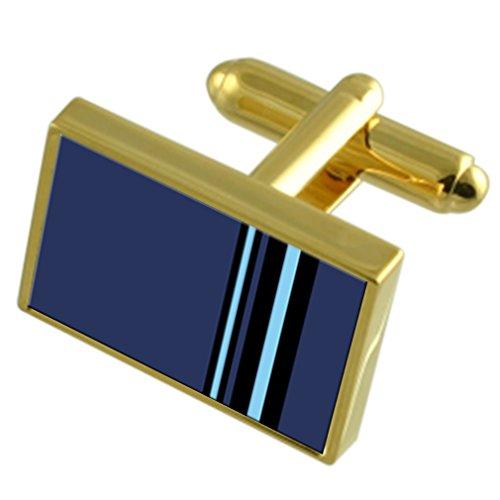 Select Gifts RAF Insigne armée de l'Air Vice Marshal Rang-du-pin-ton Coffret Cravate boutons de manchettes en option gravé