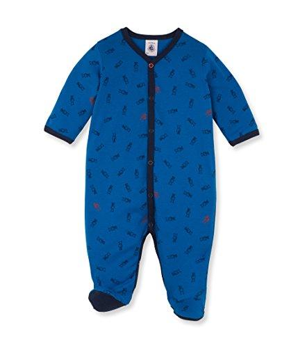 Petit Bateau 1425803000 Polaina, Blue (Wave/Multicoloured), 3-5,5 Meses (Talla del Fabricante:3 Meses) para Bebés