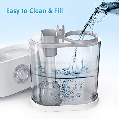 Humidifiers,Homech 4L Cool Mist Ultrasonic Quiet Humidifier for Bedroom Home Baby, 12-60 Hours, Easy to Clean, 360° Nozzle, Waterless Auto Shut-Off (4L/1.06 Gallon US 110V)