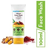 Mamaearth Ubtan Natural Face Wash for Dry Skin with Turmeric & Saffron for Tan removal and Skin brightning 100 ml - SLS & Paraben Free