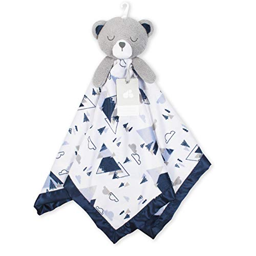 Just Born XL Security Blanket, Navy Bear, One Size