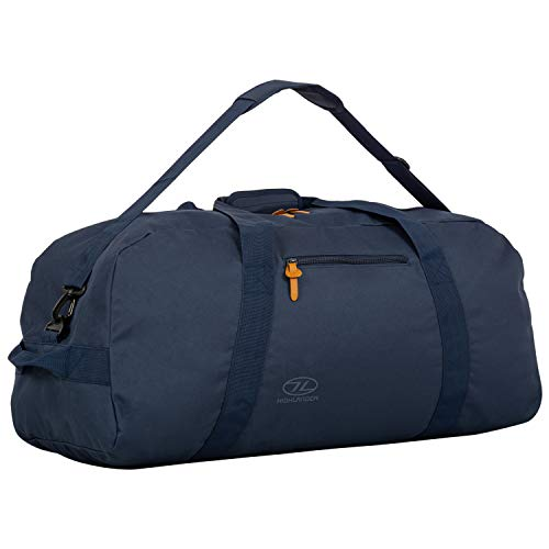 Highlander Cargo Bag 100L Durable Canvas Holdall ideal for Travel or as a Sport Duffle Bag (Denim Blue)