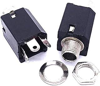 WHHHuan Lot de 5 connecteurs à souder mono femelle 6,35 mm 6,35 mm
